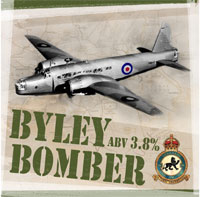 Byley Bomber beer badge