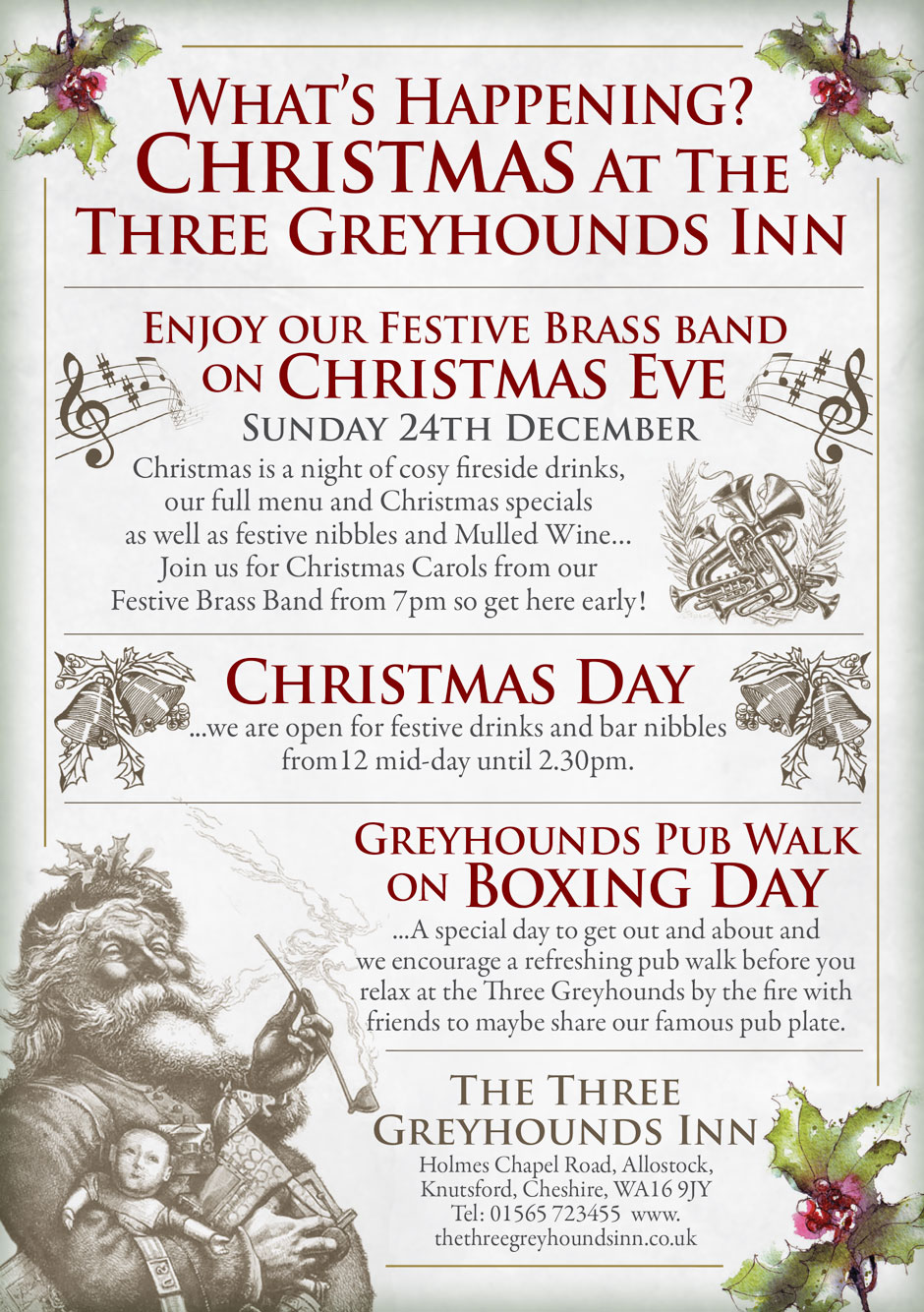 Festive Events | The Three Greyhounds Pub, Cheshire